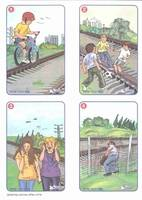 4 SAFETY RULES Rail tracks are not playgrounds -You may cross the tracks (...)