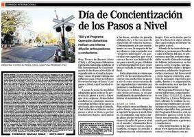 "Article in the newspaper ""LA RAZON"" in Argentina"